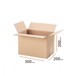Cardboard box 300x200x200 double wall - 10 pcs