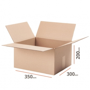 Cardboard box 350x300x200mm (external dimension) - 20 pcs
