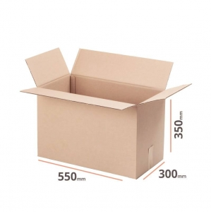 Cardboard box 550x300x350mm double wall - 10 pcs