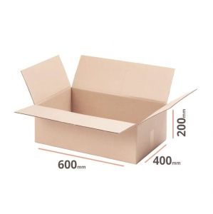 Cardboard box 600x400x200mm (external dimension) - 10 pcs