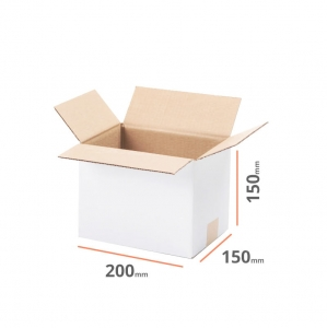 White cardboard box 200x150x150mm - 20 pcs