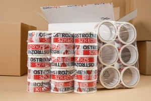 "Printed Packaging Tape ""OSTROŻNIE SZKŁO"" - 6 pcs (1)"