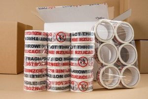"Printed Packaging Tape ""OSTROŻNIE"" - 6 pcs (1)"