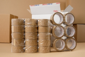 Adhesive tape 60yd - brown - 36pcs.