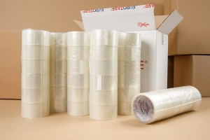 Adhesive tape 40yd - transparent - 6pcs.  (1)