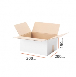 White cardboard box 300x200x150mm - 20 pcs