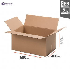 Cardboard box 600x400x300mm - 10 pcs. - double wall - external dim.