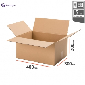 Cardboard box 400x300x200  - 10pcs. - double wall