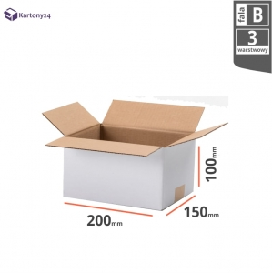 White cardboard box 200x150x100mm - 20 pcs.