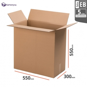 Cardboard box 550x300x550mm - 10 pcs. - double wall