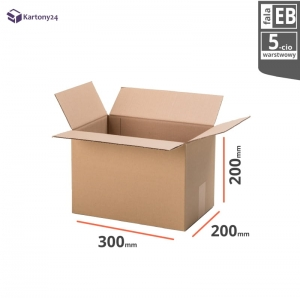 Cardboard box 300x200x200 - 10pcs.- double wall