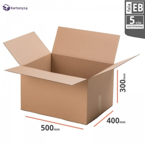 Cardboard box 500x400x300 - 10pcs. -double wall