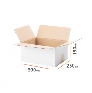 White cardboard box 300x250x150mm (external dimension) - 20 pcs