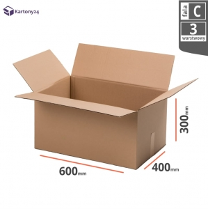 Cardboard box 600x400x300mm (external dimension)- 10 pcs.