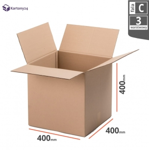 Cardboard box 400x400x400mm (external dimension)- 10pcs.