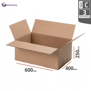 Cardboard box 600x400x250mm (external dimension)- 10 pcs.