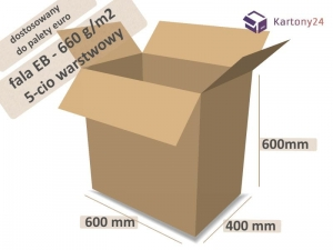 Cardboard box 600x400x600mm - 10 pcs. - double wall - external dim.  (1)