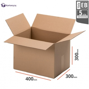Cardboard box 400x300x300mm - 10 pcs. - double wall - external dim.
