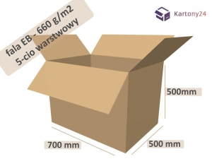 Cardboard box 700x500x500 - double wall - 10pcs. (1)