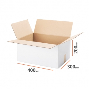 White cardboard box 400x300x200mm - 20 pcs